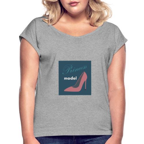 princess model - T-shirt à manches retroussées Femme
