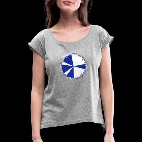 geometrie - Frauen T-Shirt mit gerollten Ärmeln
