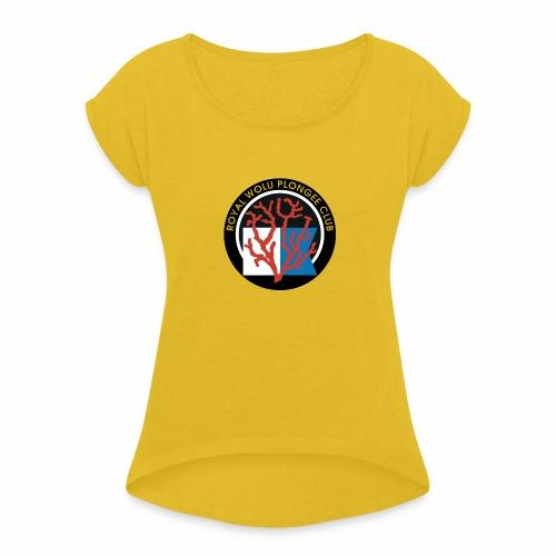 Royal Wolu Plongée Club - T-shirt à manches retroussées Femme