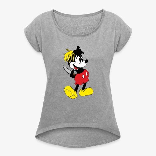 xxxMickey - T-shirt med upprullade ärmar dam