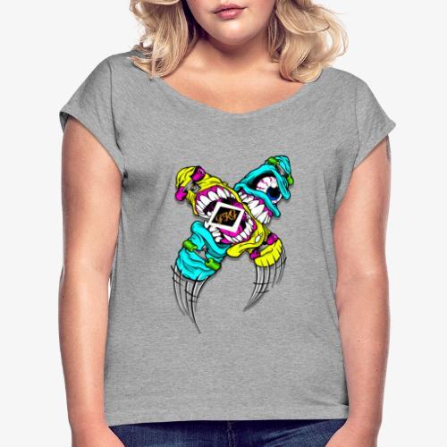 fkgdesign2 - Vrouwen T-shirt met opgerolde mouwen