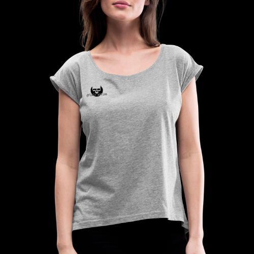 Kitty Kitty - Frauen T-Shirt mit gerollten Ärmeln