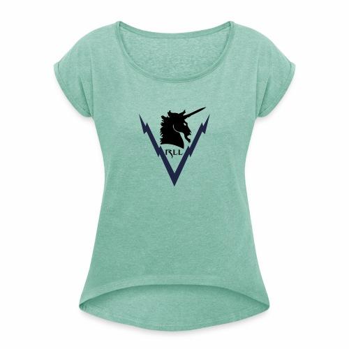 Brand RLL Color - Maglietta da donna con risvolti