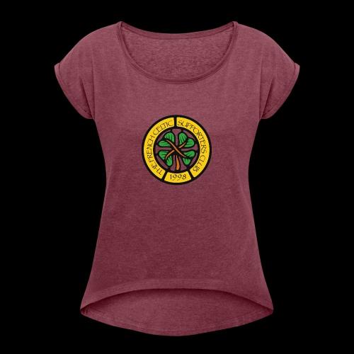 French CSC logo - T-shirt à manches retroussées Femme