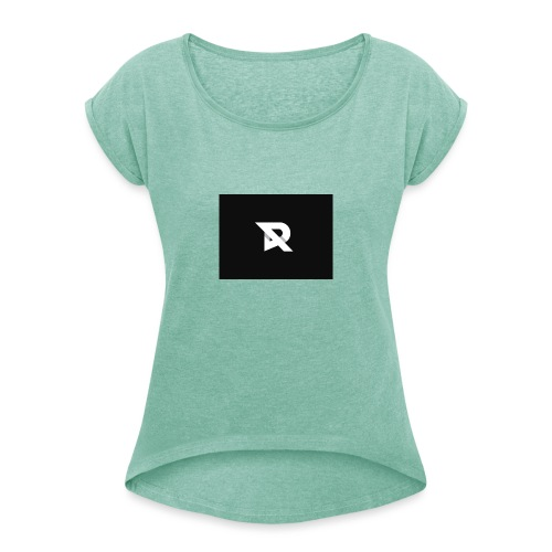 xRiiyukSHOP - Women's T-Shirt with rolled up sleeves