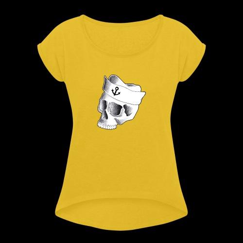 Teschio Marinaio - Maglietta da donna con risvolti
