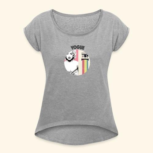 Vogue - T-shirt à manches retroussées Femme