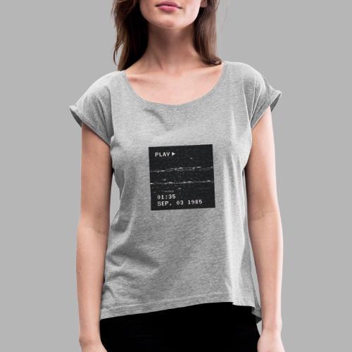 NX SURRXNDXR LOGO - Vrouwen T-shirt met opgerolde mouwen