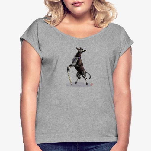 Dandy Okapi - Women's T-Shirt with rolled up sleeves