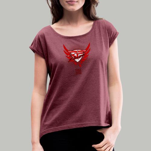 RFD_2PRINT (bitte max. 40°/verkehrt waschen) - Frauen T-Shirt mit gerollten Ärmeln