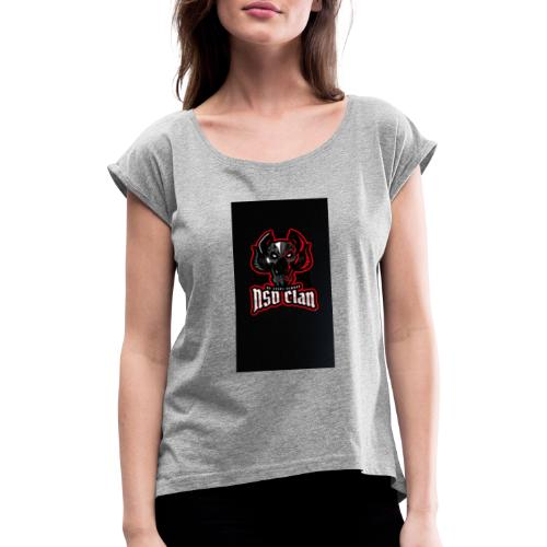 8AEA5637 E6B9 4698 A59F 339446902CEB - Women's T-Shirt with rolled up sleeves