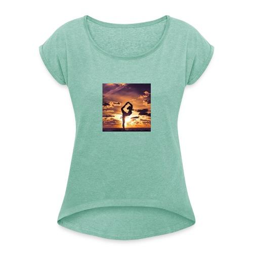 fee2 - Vrouwen T-shirt met opgerolde mouwen