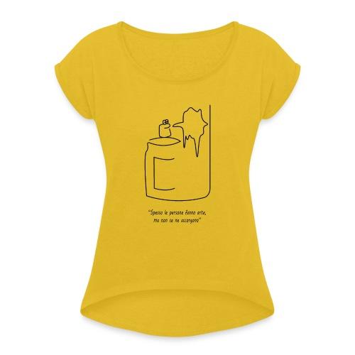bomboletta - Maglietta da donna con risvolti