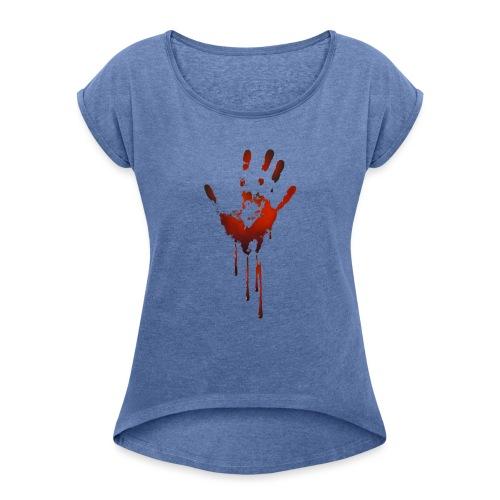 tænk dig om - Dame T-shirt med rulleærmer