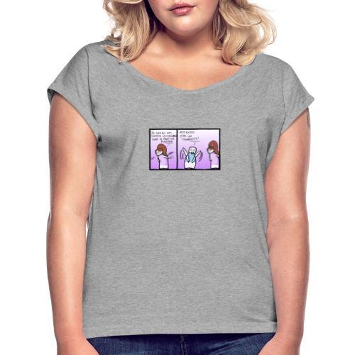 tournevis - T-shirt à manches retroussées Femme