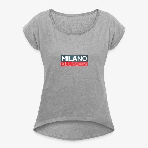 Milano AllNews Logo - Maglietta da donna con risvolti