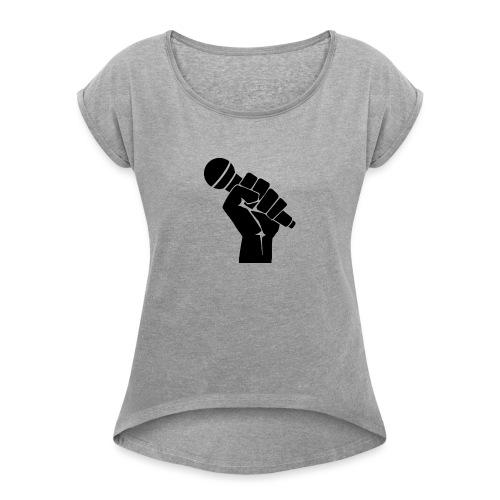 RAP, RAPERO - Camiseta con manga enrollada mujer