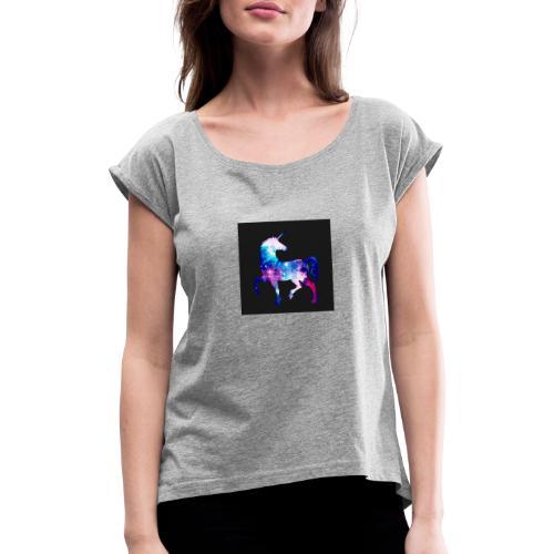 Licorne - T-shirt à manches retroussées Femme