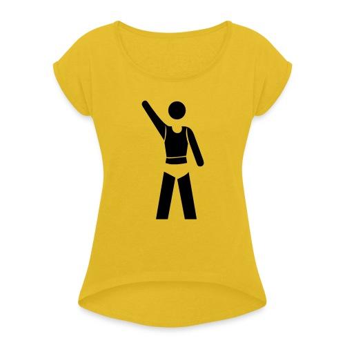 icon - Frauen T-Shirt mit gerollten Ärmeln