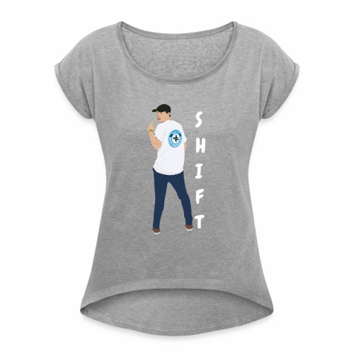 Shift Skateboarding James Larner - Women's T-Shirt with rolled up sleeves