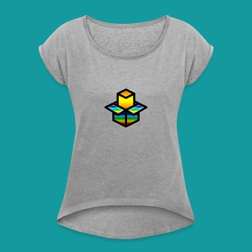 Unboxing - Vrouwen T-shirt met opgerolde mouwen