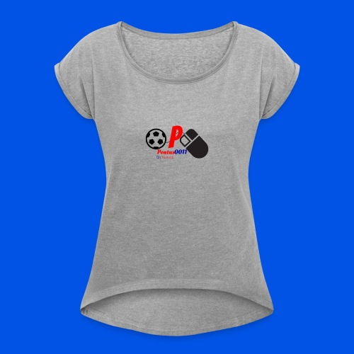 Mousepad 2016 logotyp - T-shirt med upprullade ärmar dam