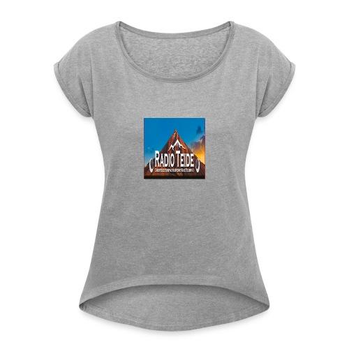 Neu Radio Teide - Frauen T-Shirt mit gerollten Ärmeln