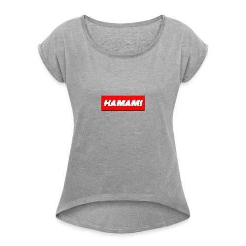 HAMAMI - Maglietta da donna con risvolti