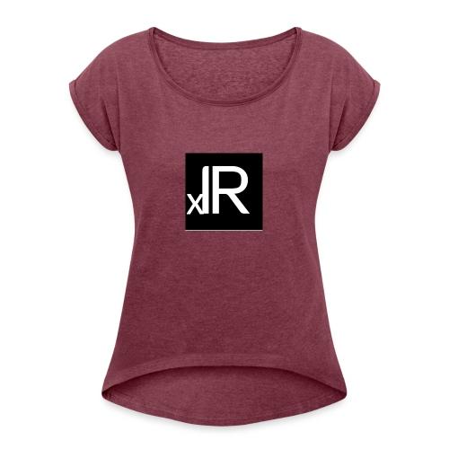irmeli - Naisten T-paita, jossa rullatut hihat