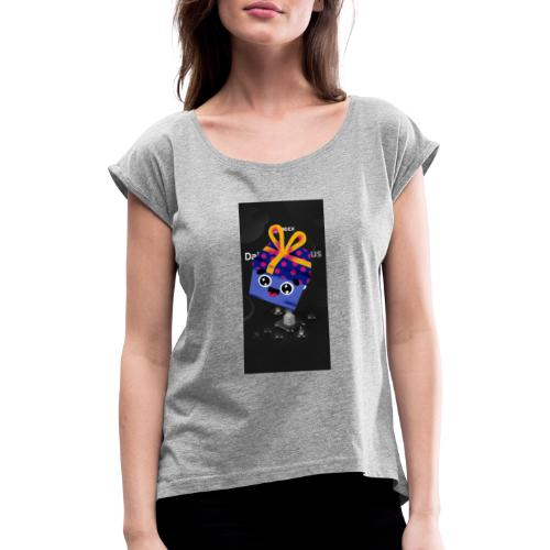 Party _ Let's go - Frauen T-Shirt mit gerollten Ärmeln