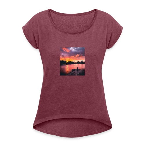 72C69AD7 1275 46C5 840A AFB0B32B4BEE - Women's T-Shirt with rolled up sleeves
