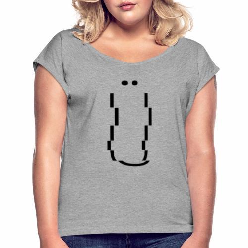 Ü - Maglietta da donna con risvolti