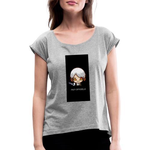 Manga#1 - T-shirt à manches retroussées Femme