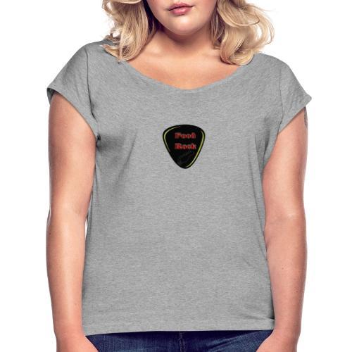 FoodRock - Frauen T-Shirt mit gerollten Ärmeln