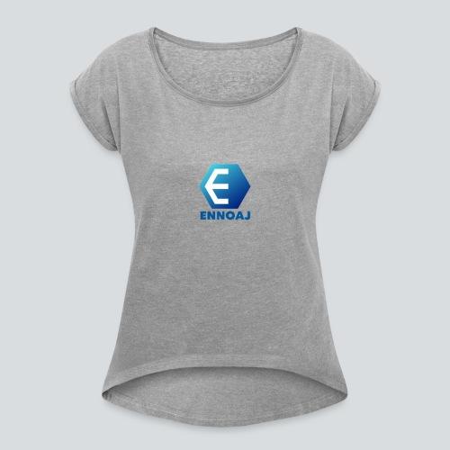 ennoaj - Vrouwen T-shirt met opgerolde mouwen