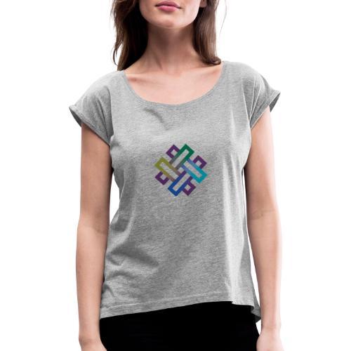 Modern art - Frauen T-Shirt mit gerollten Ärmeln