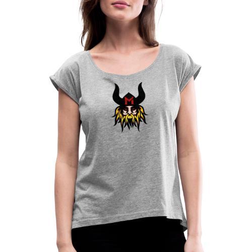 Wikinger Gold - Frauen T-Shirt mit gerollten Ärmeln