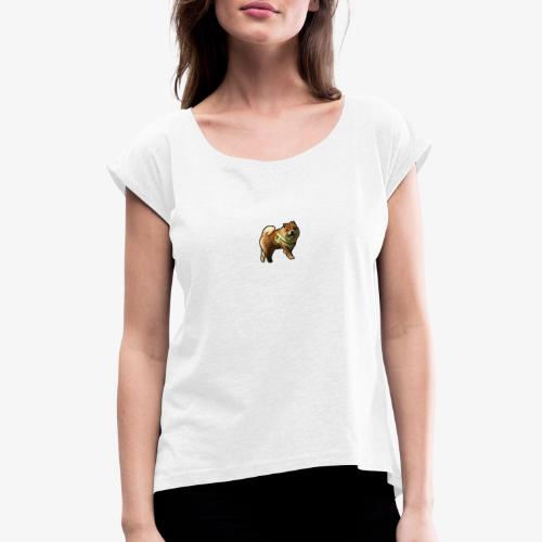 Bear - Women's T-Shirt with rolled up sleeves