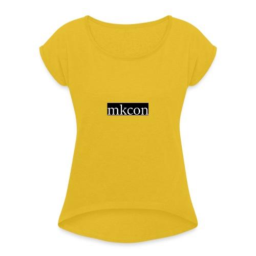 mkcon - Naisten T-paita, jossa rullatut hihat
