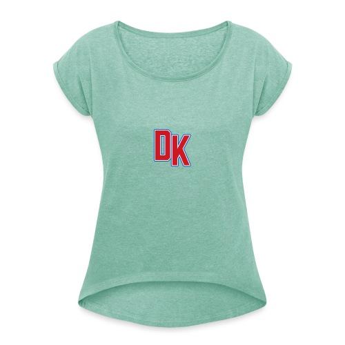 DK - Vrouwen T-shirt met opgerolde mouwen