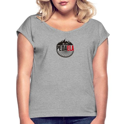 PEDAELA - Camiseta con manga enrollada mujer