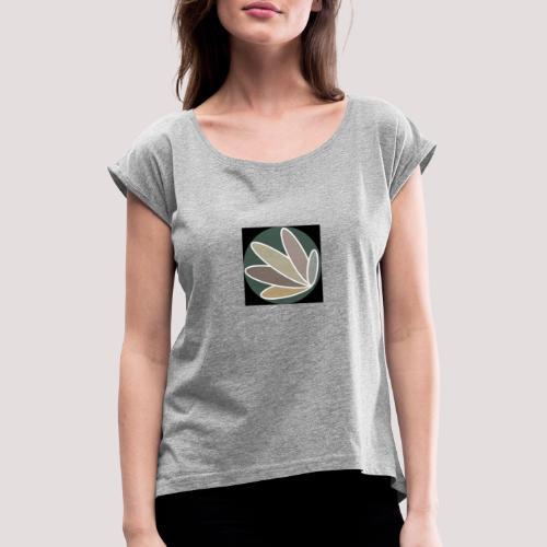 Logo Informel Zéro Déchet - T-shirt à manches retroussées Femme