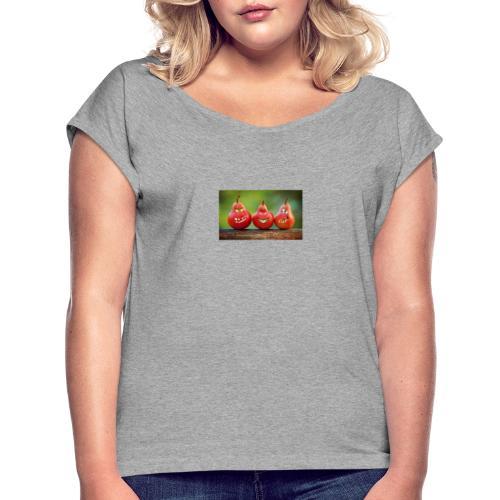 pears rigolo - T-shirt à manches retroussées Femme