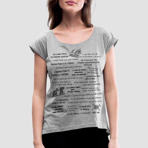 Alpini preghiera - Maglietta da donna con risvolti