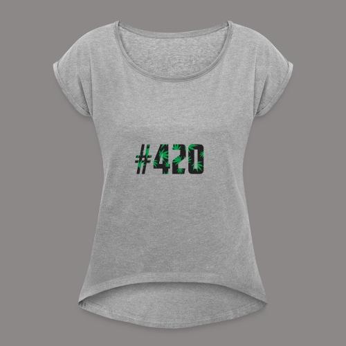 420 - Frauen T-Shirt mit gerollten Ärmeln