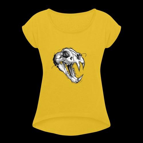 Teschio Tigre - Maglietta da donna con risvolti