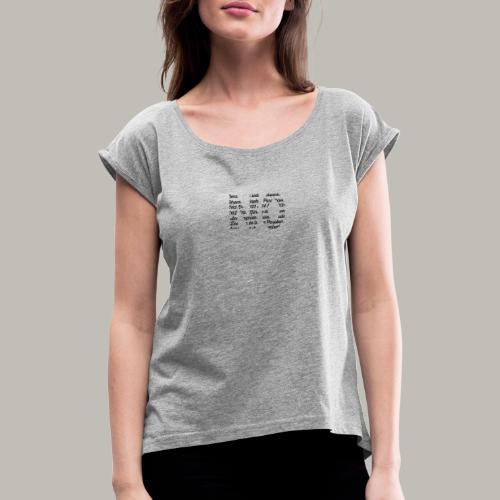 NO - T-shirt à manches retroussées Femme