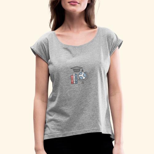 teacher knowledge learning University education pr - Dame T-shirt med rulleærmer