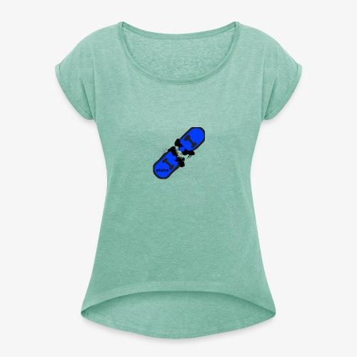 skateboard 512 - Dame T-shirt med rulleærmer
