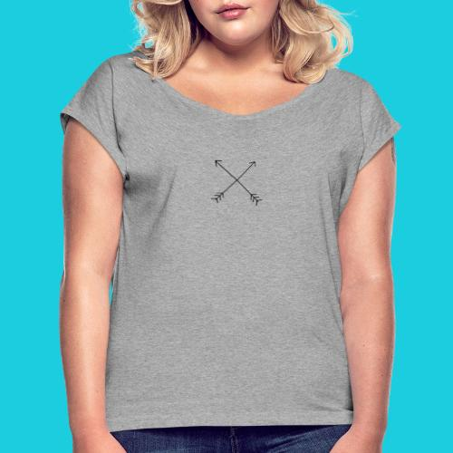 crossed arrows - Women's T-Shirt with rolled up sleeves